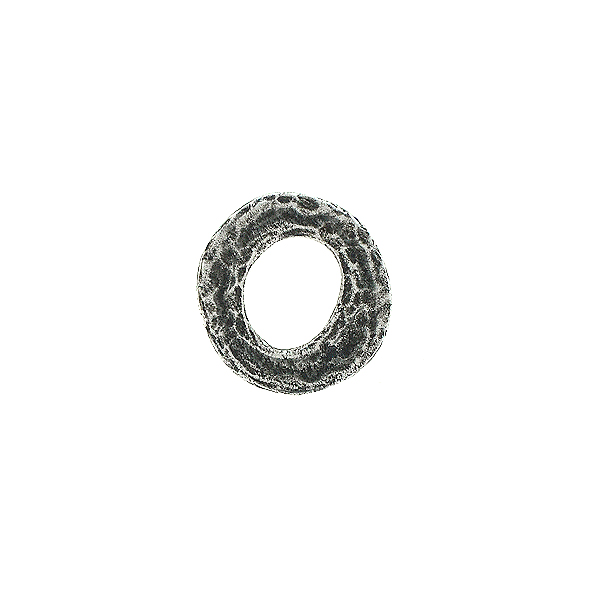 14mm Hammered metal casting hollow circles