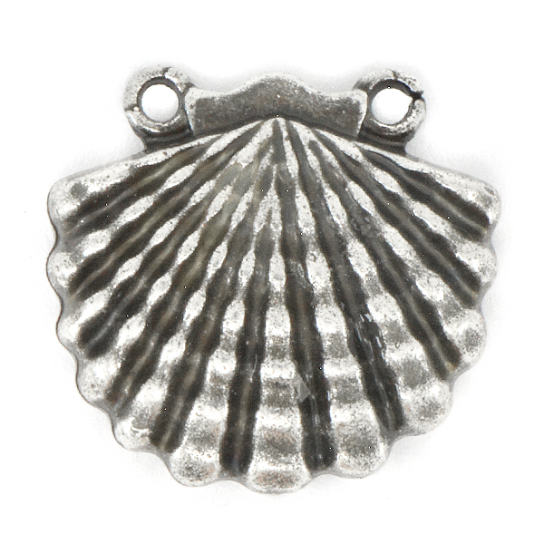 Shell Pendant base with two top side loops