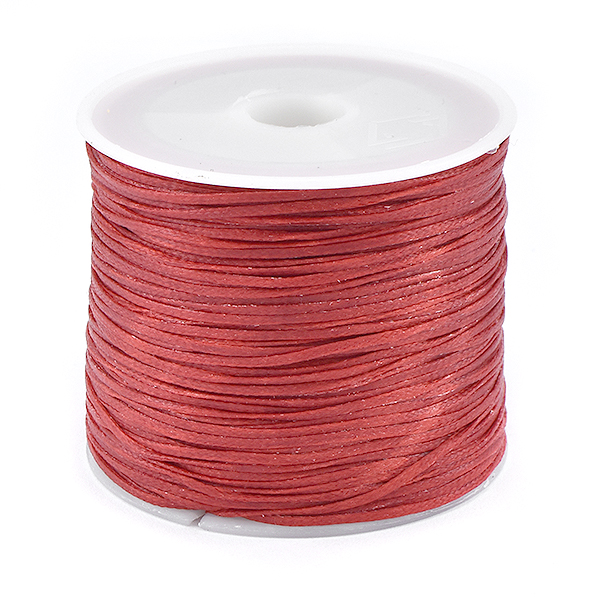 1 Roll Waxed Polyester Cord for Beading Dark Red color