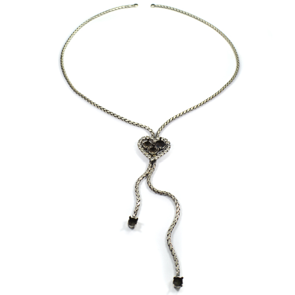 29ss, 39ss Heart with SW rhinestone Necklace base