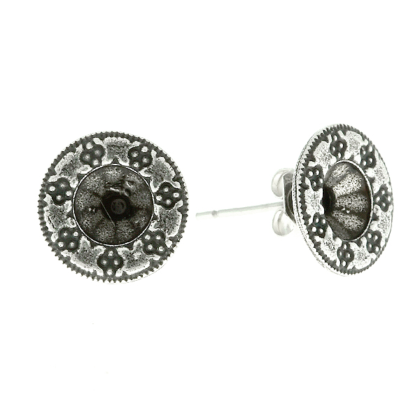 29ss Round Decorated Embedding Elements Stud Earring bases