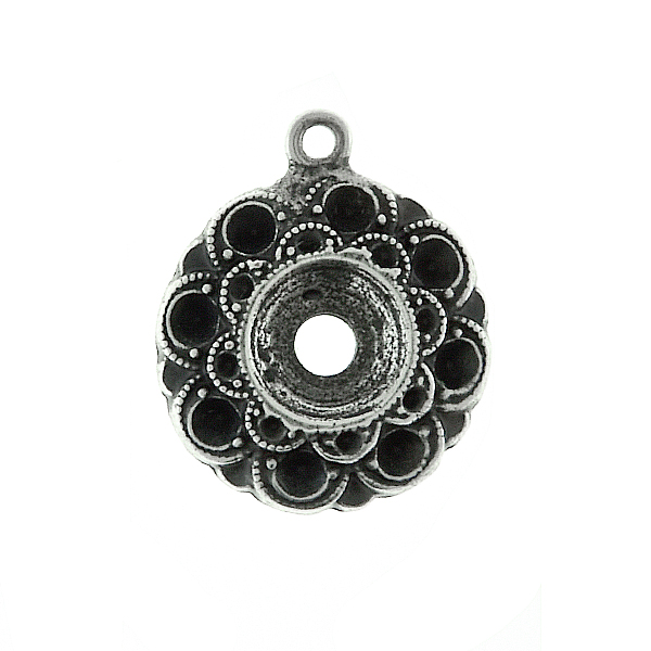 14pp and 29ss Metal casting Flower element Pendant base with one top loop