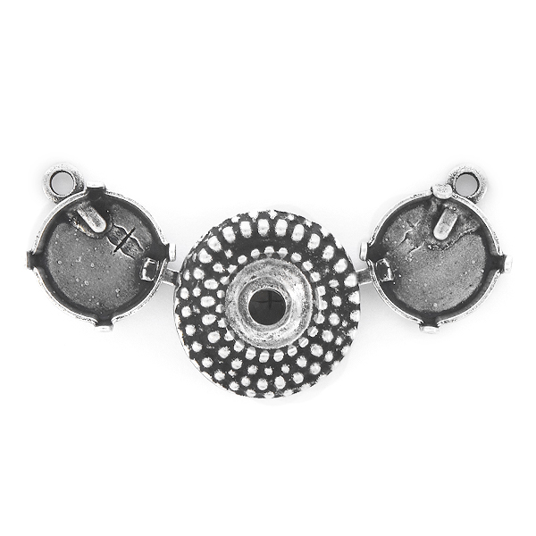 39ss, 12mm Rivoli Dotted Centerpiece for Necklace