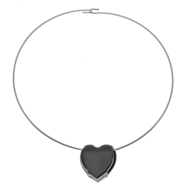 28mm Heart 4827 setting  Wire Necklace/Choker base