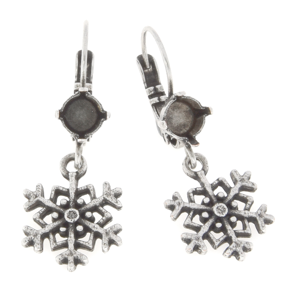 29ss with hanging snowflake Lever back earring base