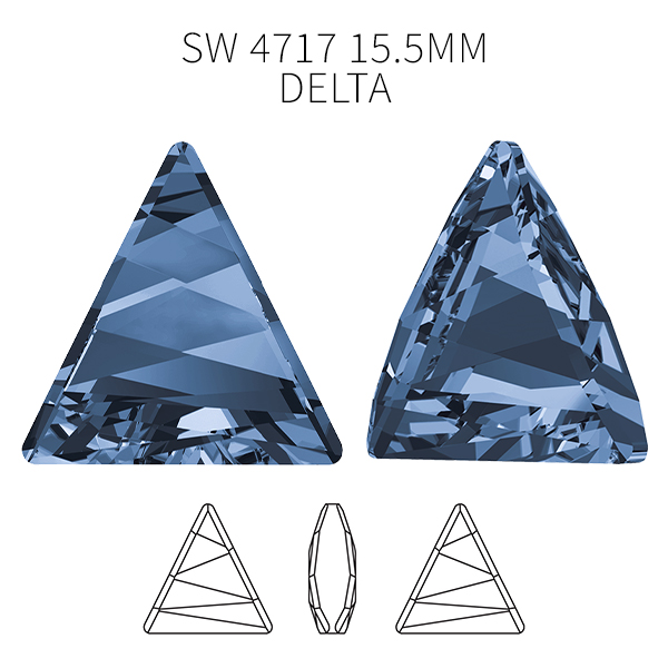 Swarovski 4717 Delta Fancy stone Montana color 15.5mm