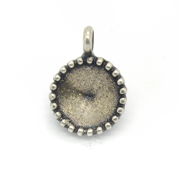 39ss/8mm decorated Stone setting with one top loop
