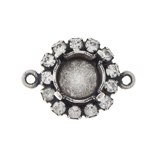 39ss stone setting with Rhinestones and 2 loops