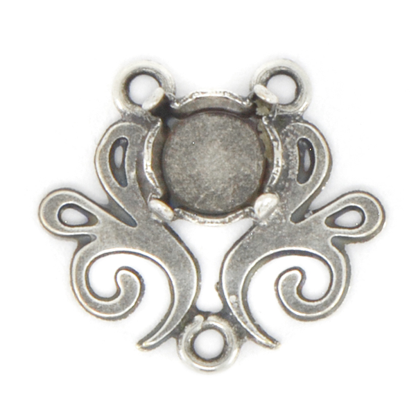 29ss Pendant Base with Vintage Floral Decor and 3 loops