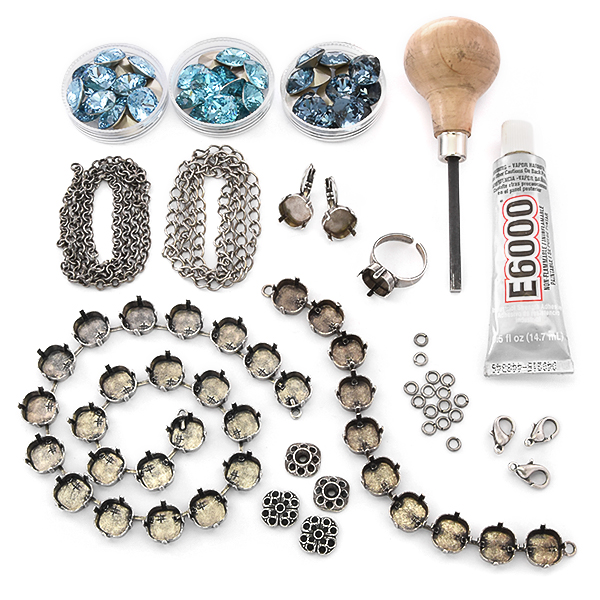 12x12mm Square Jewelry making kit for beginners