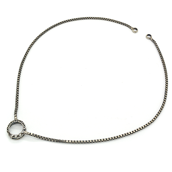Decorated Rivoli 12mm Necklace base with box chain