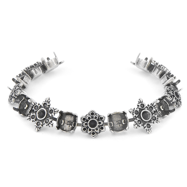 24pp, 32pp, 39ss Cup chain Bracelet base with Snowflakes