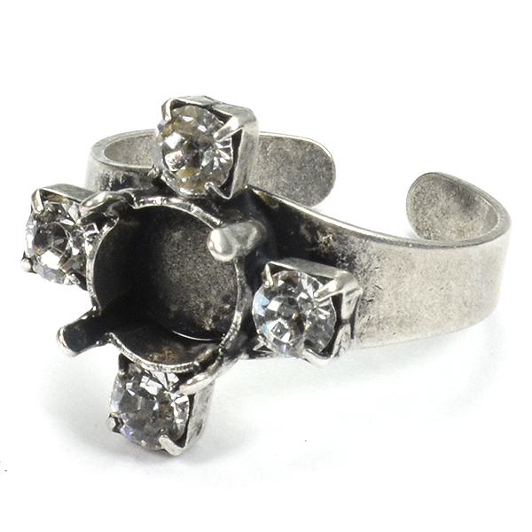 39ss Cross Ring base with 32pp Rhinestones