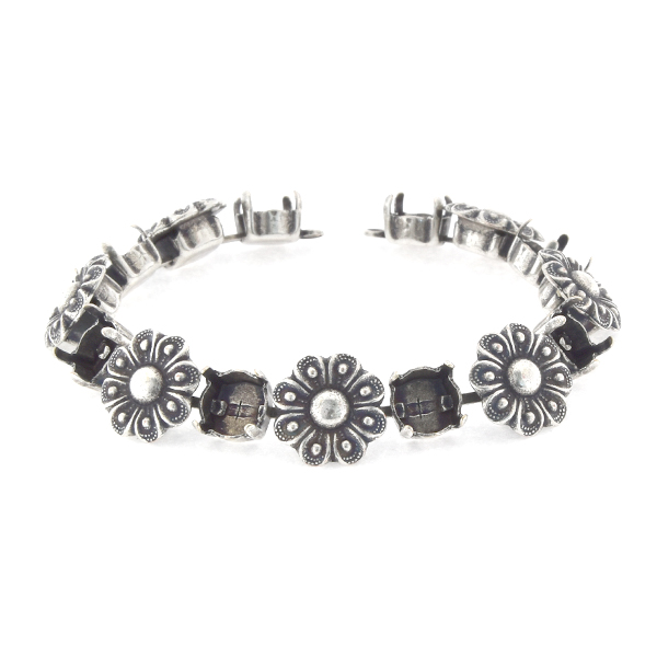 39ss cup chain Bracelet base with flowers