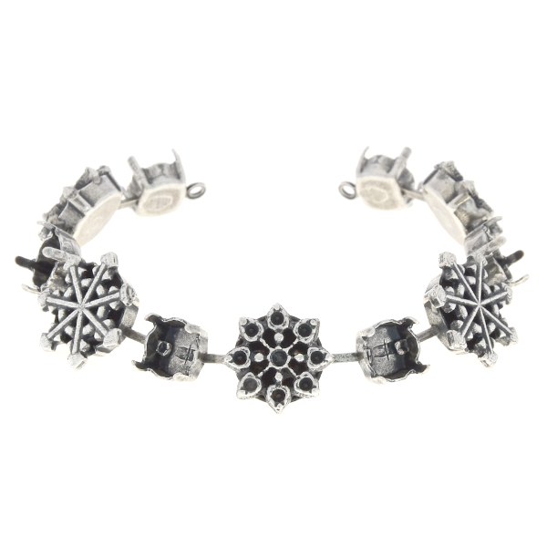 14pp, 39ss Cup chain bracelet base with Snowflakes