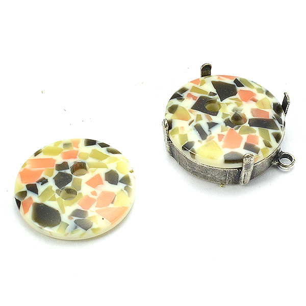 18mm Multi color embedding buttons