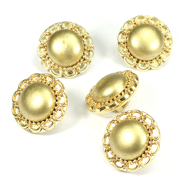 16mm Gold embedding buttons