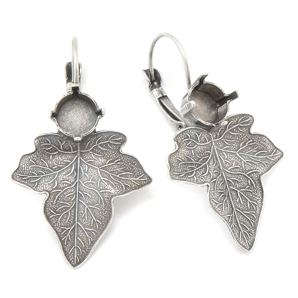 39ss Lever back Earring bases with Leaf