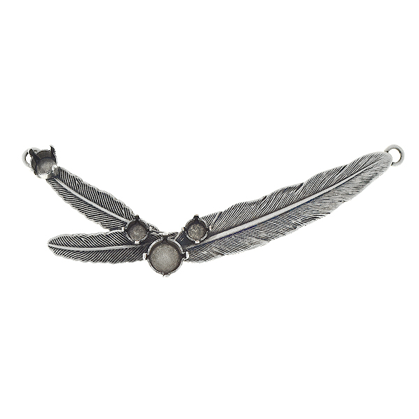 24ss, 29ss, 39ss Feathers pendant base with two loops