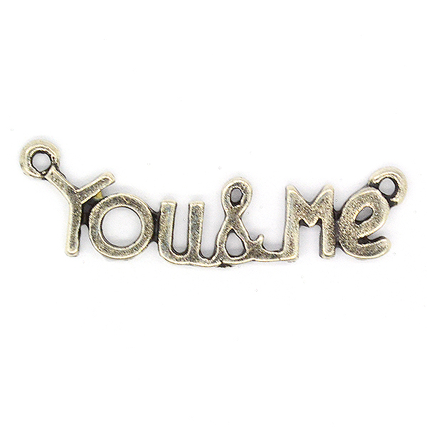You&Me casting pendant base with 2 top side loops