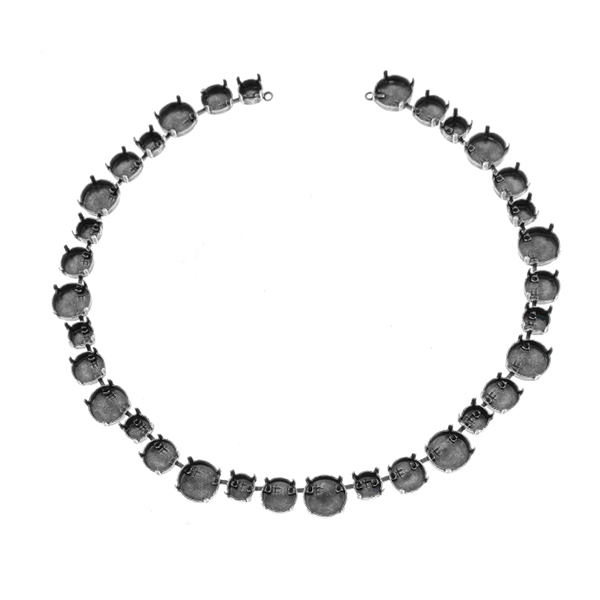 39ss, 47ss, 12mm Rivoli cup chain Necklace base - 33 settings