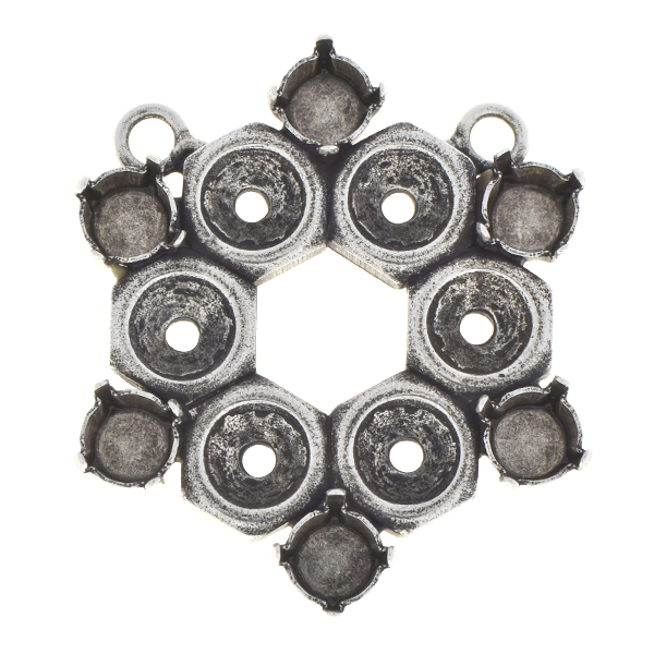 29ss Screw nut pendant base with two loops