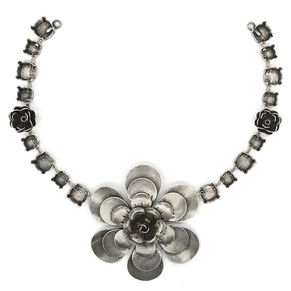 39ss,29ss and 24ss Necklace base with flower elements