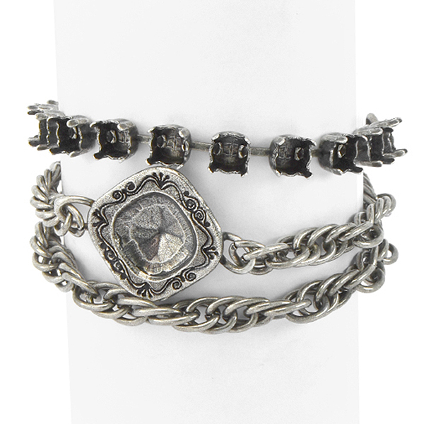29ss, 12x12mm Square with Rope chain Wrap Around Bracelet