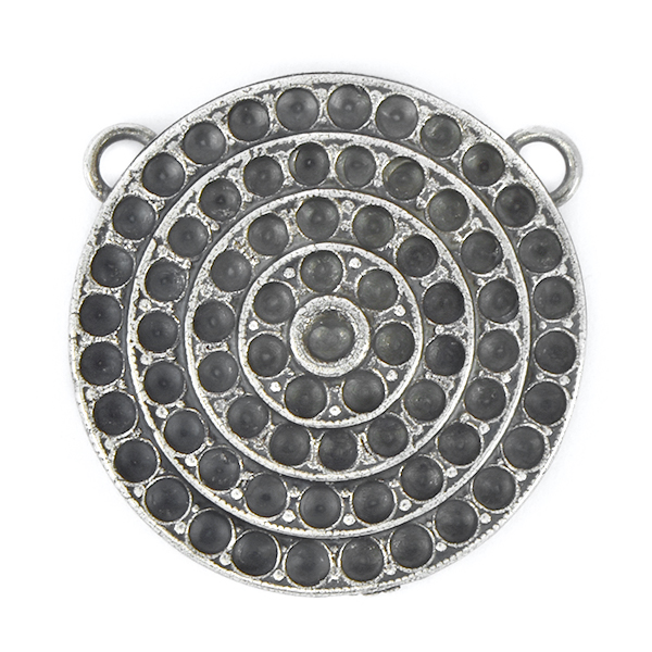 18pp, 24pp Round Pendant base with two top loops