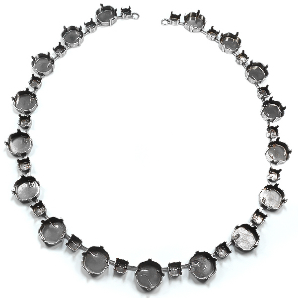 Square 4470 12-12mm with 29ss Necklace base 40cm