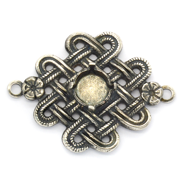 Braided metal element with 39ss Pendant base