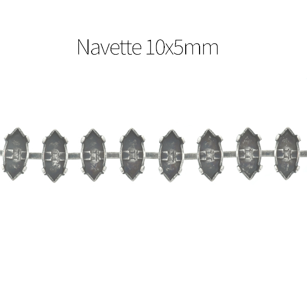10x5mm Navette Cup chain for Bracelet - 1Meter