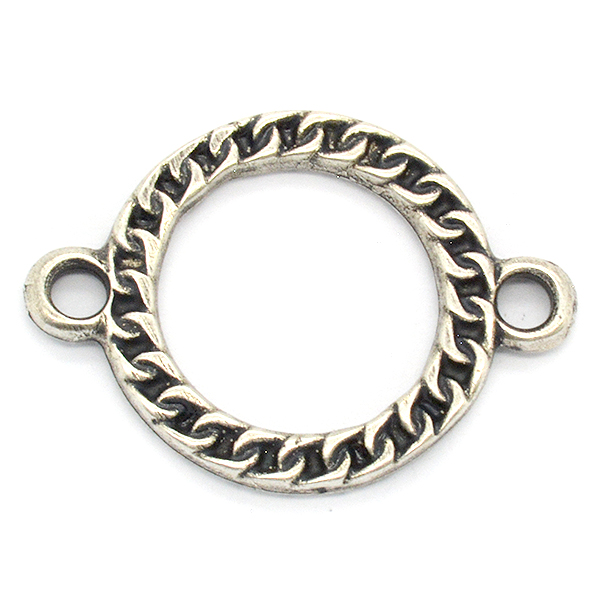 20mm Round Hollow ring and 2 side loops