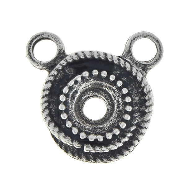 39ss Wave metal stone setting with two top loops