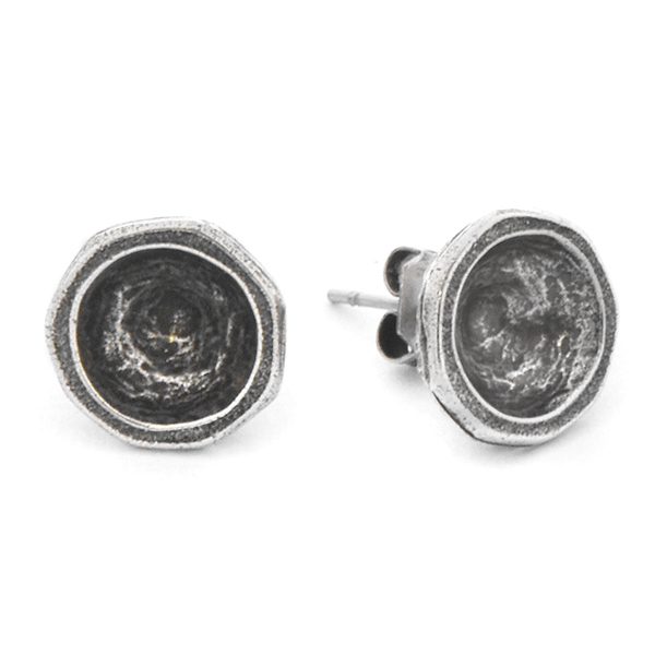 39ss Metal casting Stud Earring bases