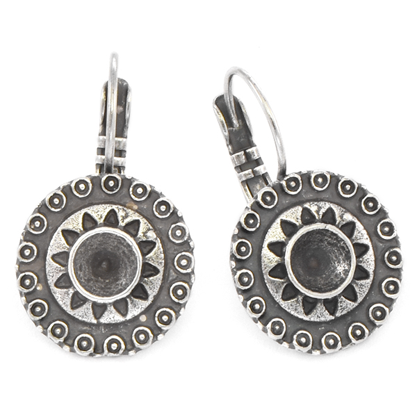 24ss Round Ethnic Lever back Earring base