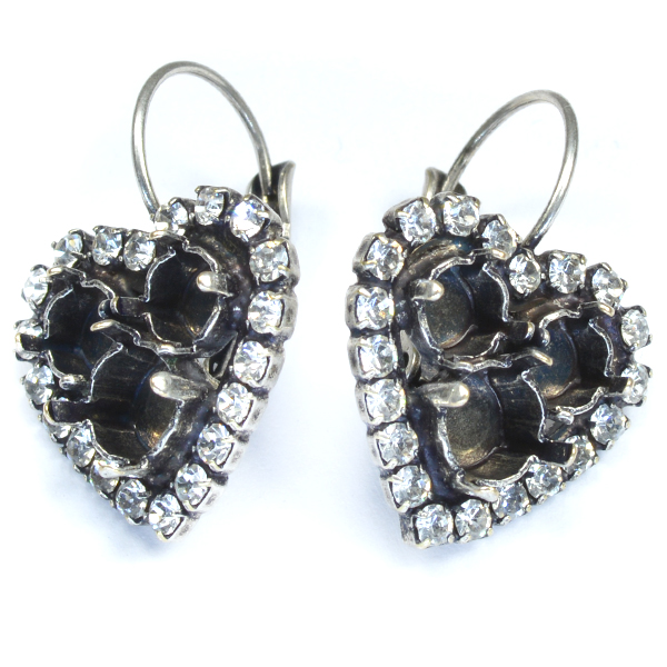 24ss and 29ss Heart drop earrings base