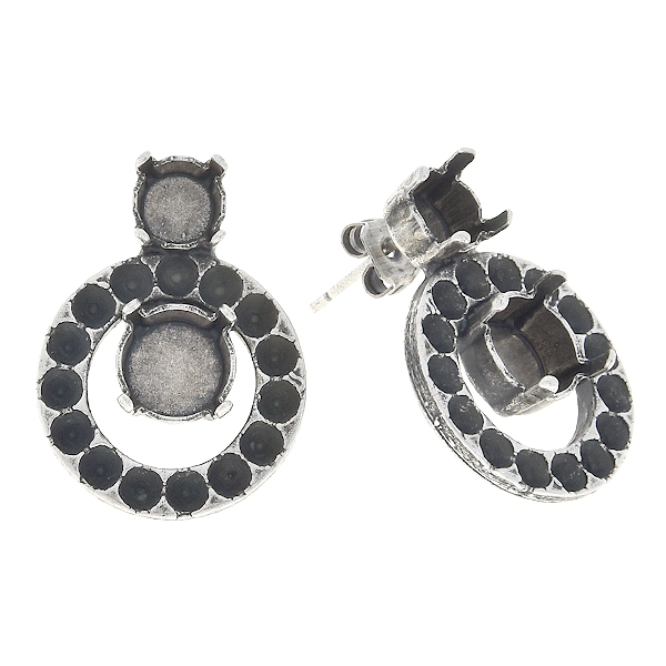 18pp, 29ss, 39ss Stud earring base with hollow circle
