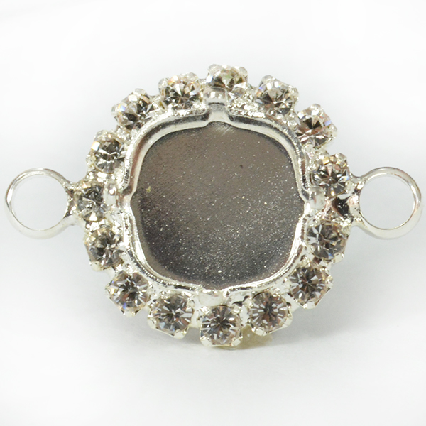 10-10mm setting with rhinestones and 2 side loops