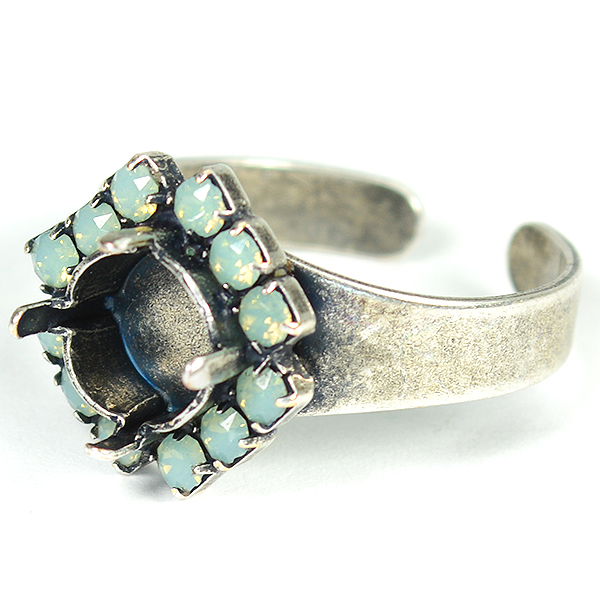 39ss/8mm Ring base with Rhinestoness