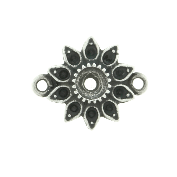 8pp and 32pp metal casting Daisy Flower Connector base with two side loops