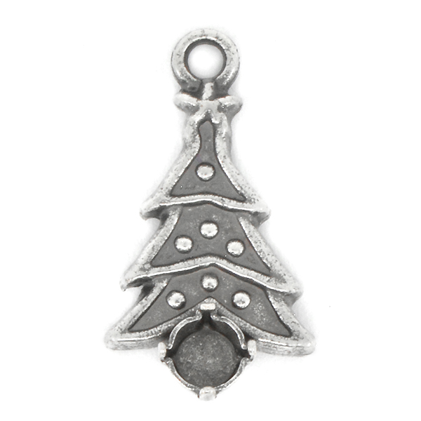 24ss Christmas tree Pendant base with top loop
