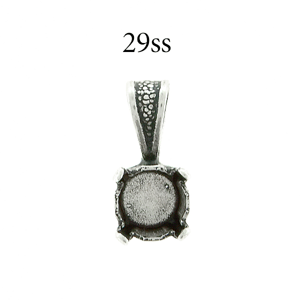 29ss round Pendant base with soldered wide bail