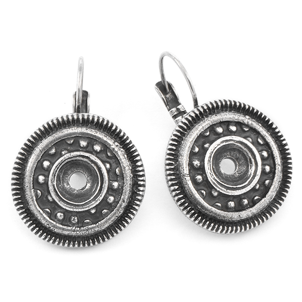 29ss Round Ethnic Lever back Earring base