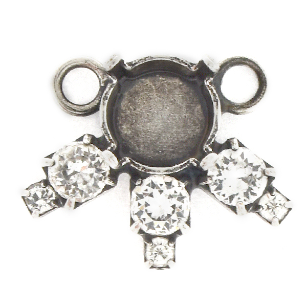 39ss with 14pp, 32pp Rhinestones Pendant base with 2 loops