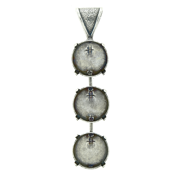 14mm Rivoli round Pendant base with soldered wide bail