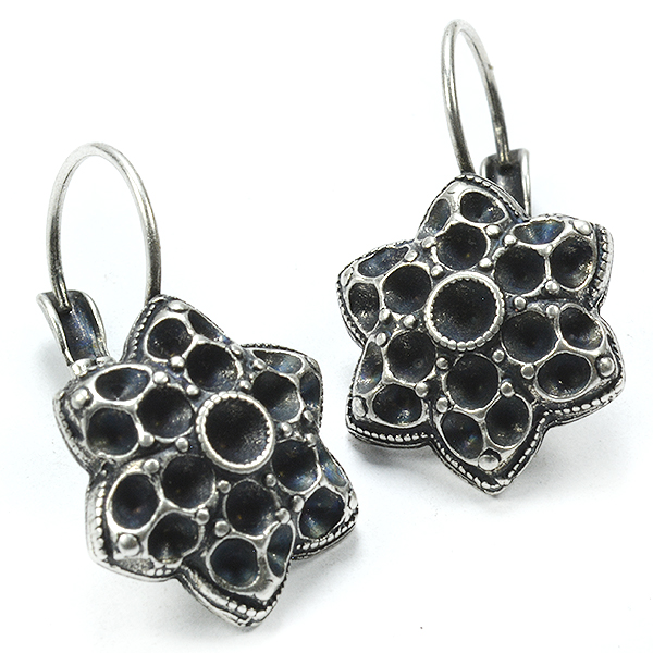 Star drop earring base for PP24 and PP18