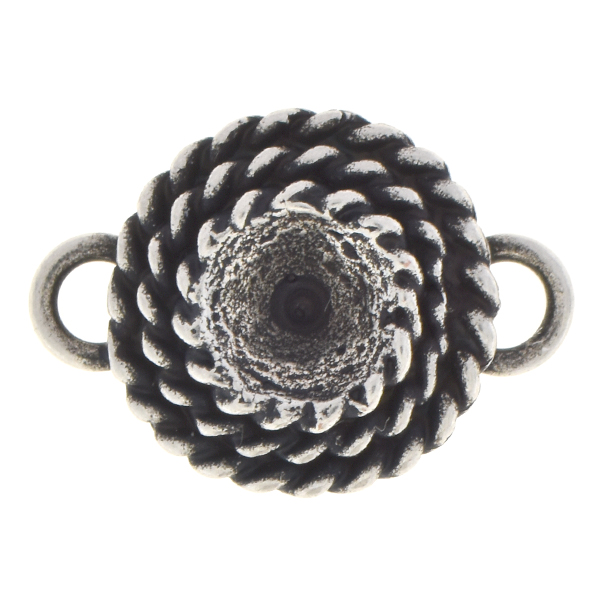 29ss Rope jewelry connector with two side loops