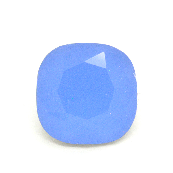 Opaque Blue Glass Stone for 4470 12X12mm Square setting