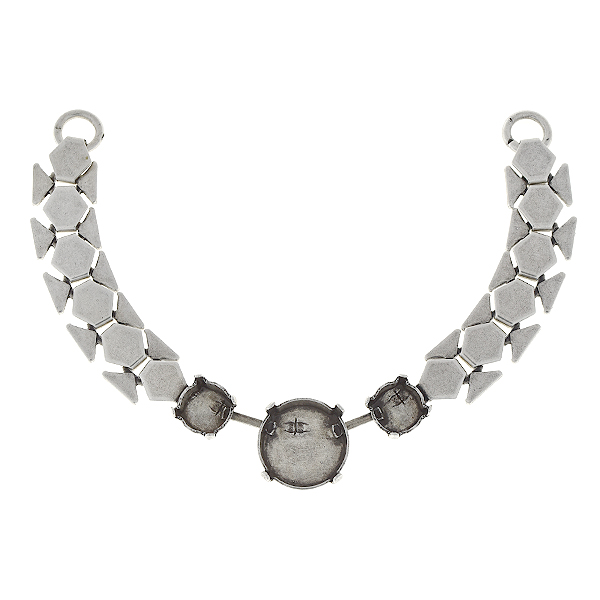 39ss, 12mm Rivoli honeycomb chain centerpiece for necklace